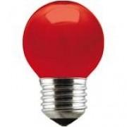 Lâmpada Incandecente Taschibra Bolinha 15W Vermelha 220V