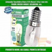Lâmpada Incandescente Taschibra 15W P/ Geladeira Soquete E-14