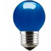 Lâmpada Incandescente Taschibra Bolinha 15W Azul 220V