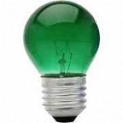 Lâmpada Incandescente Taschibra Bolinha 15W Verde 220V