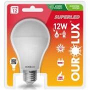 Lampada Ourolux Super Led Ouro 12W Bivolt Luz Branca 6500K