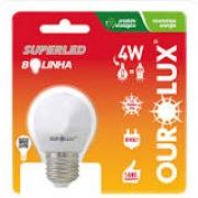 Lampada Ourolux Super Led Ouro S30 4W Bolinha Luz Amarela 2700K