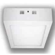Luminária Ourolux Plafon Led Sobrepor Quadrado Bivolt 21W Luz Branca 6400K