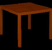 Mesa de Jantar de Madeira Tramontina Quadrada em Jatobá com Acabamento Eco Blindage 4 Lugares