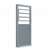Porta de giro mista de aço com basculante 215x80 Abertura Direita Ullian Riobrás Ref: 1534.2
