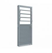 Porta de giro mista de aço com basculante 215x80 Abertura Esquerda Ullian Riobrás Ref: 1534.1