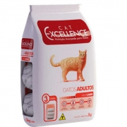 Ração Cat Excellence Adulto Carne 3Kg