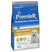 Ração Premier Ambientes Internos para Cães Filhotes Sabor Frango & Salmão 1kg