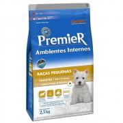 Ração Premier Ambientes Internos para Cães Filhotes Sabor Frango & Salmão 2,5Kg