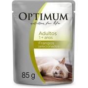 Ração Umida Optimum Sachê para Gatos Adultos Sabor Frango - 85g