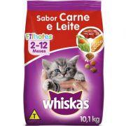 Ração Whiskas Dry 10,1Kg Filhote Carne