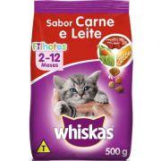 Ração Whiskas Dry 500g Filhote Carne