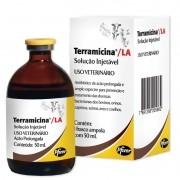 Terramicina LA Solução Injetável - Antibiótico oxitetraciclina ? 50 mL - Zoetis