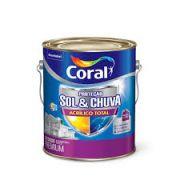 Tinta Coral Acrílico Total Sol e Chuva Fosco Branco 3,6 Litros