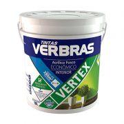 Tinta Verbras Vertex Acrílico Fosco Verde Aruanã Balde Plástico 18 Litros
