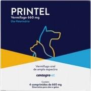 Vermífugo Centagro Vet Printel para Cães e Gatos - 4 Comprimidos