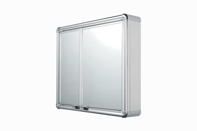 Armário Astra de Alumínio Com 2 Portas de Sobrepor 54 x 45 x 11,3 Ref LBP16/SC