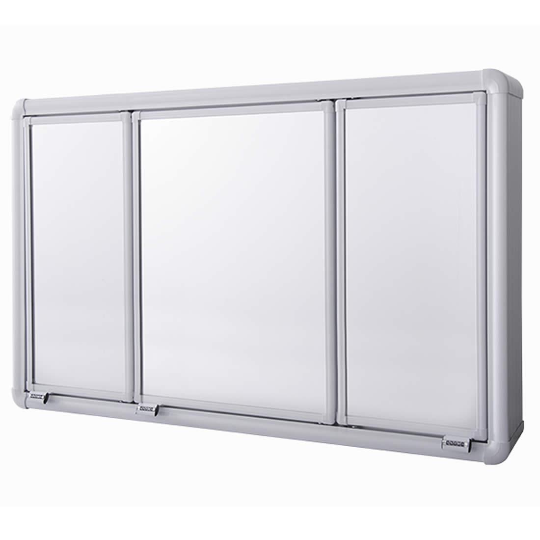 Armário Astra de Alumínio Com 3 Portas de Embutir 73 x 45 x 10,7 Ref LBP14/SC