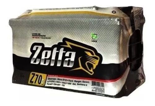 Bateria Zetta 70Ah (Amperes) - Fabricação Moura - Selada