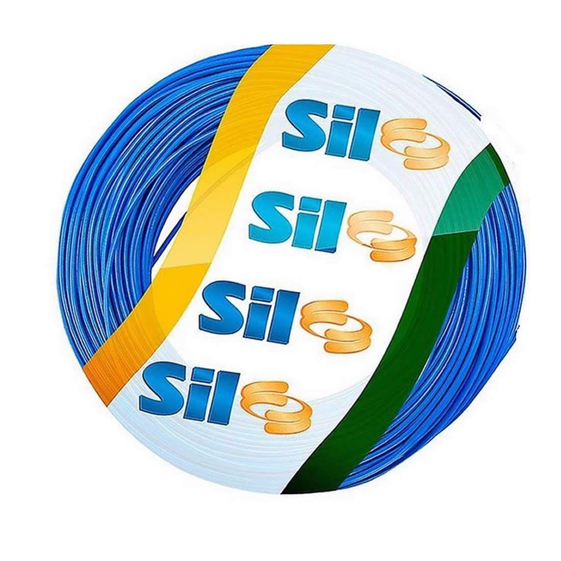 Cabo Flexível Sil 10 mm 750 V Azul Rolo Com 100 Metros