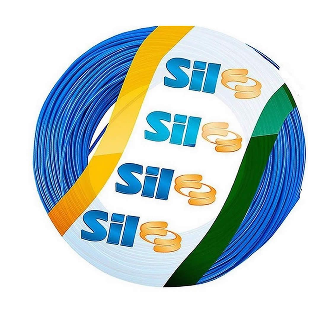 Cabo Flexível Sil 6 mm 750 V Azul Rolo Com 100 Metros