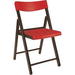 Cadeira Potenza Tramontina Tabaco Com Vermelho Ref 13792/084