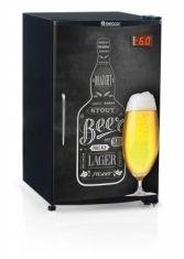 Cervejeira Gelopar 120 Litros Porta Cega Com Adesivo Quadro Negro GRBA QC/PR Ref 80511.9 60H