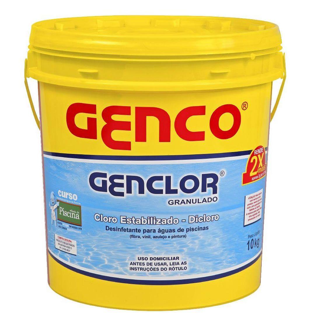 Cloro Estabilizado e Granulado 10Kg Genclor Genco