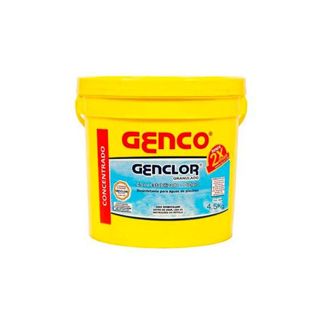 Cloro Estabilizado e Granulado 4,5Kg Genclor Genco