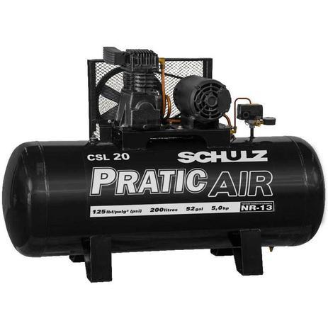 Compressor de Ar Pratic Air CSA 20/200L 5CV Schulz