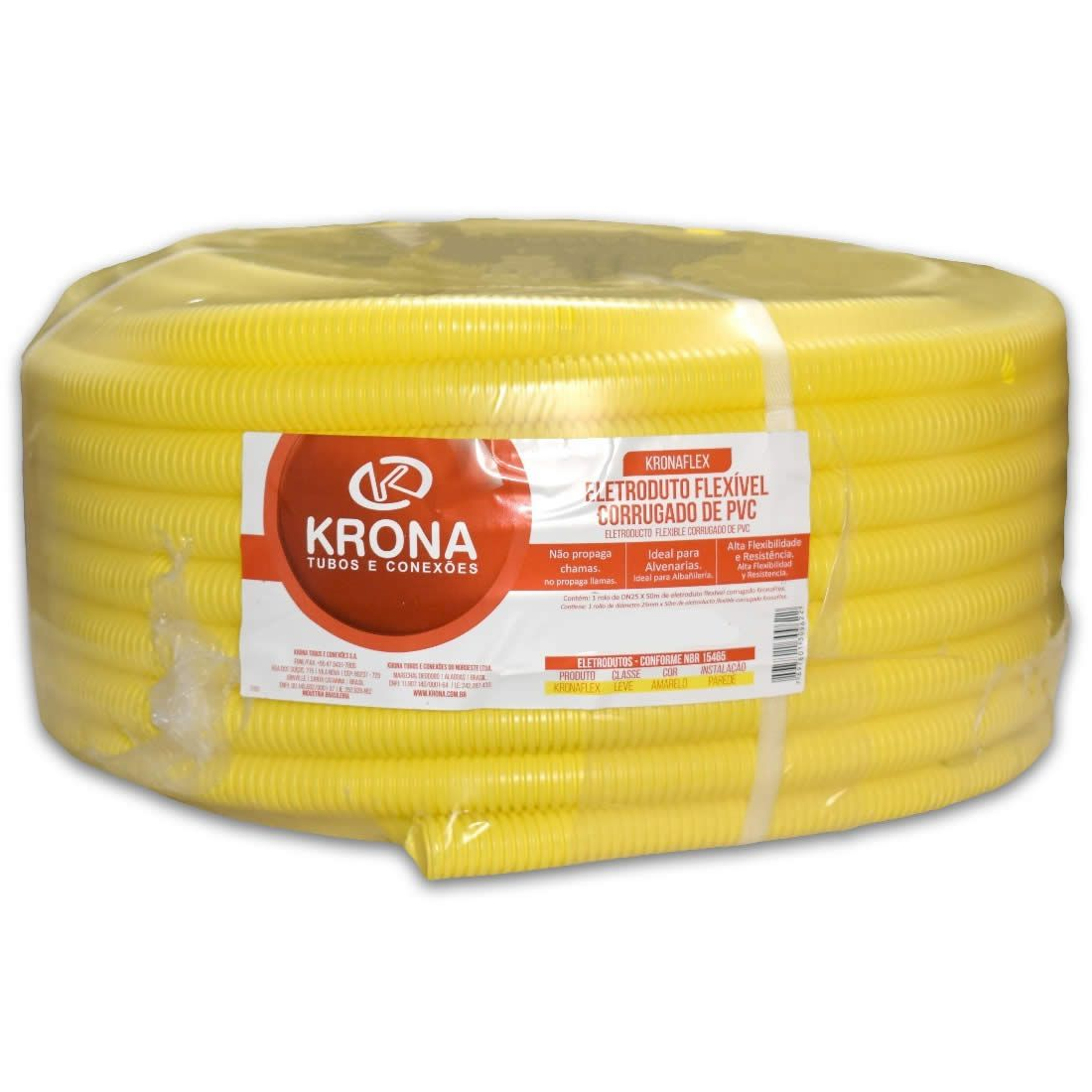 Eletro Corrugado 32mm Rolo Com 25 Metros PVC Krona