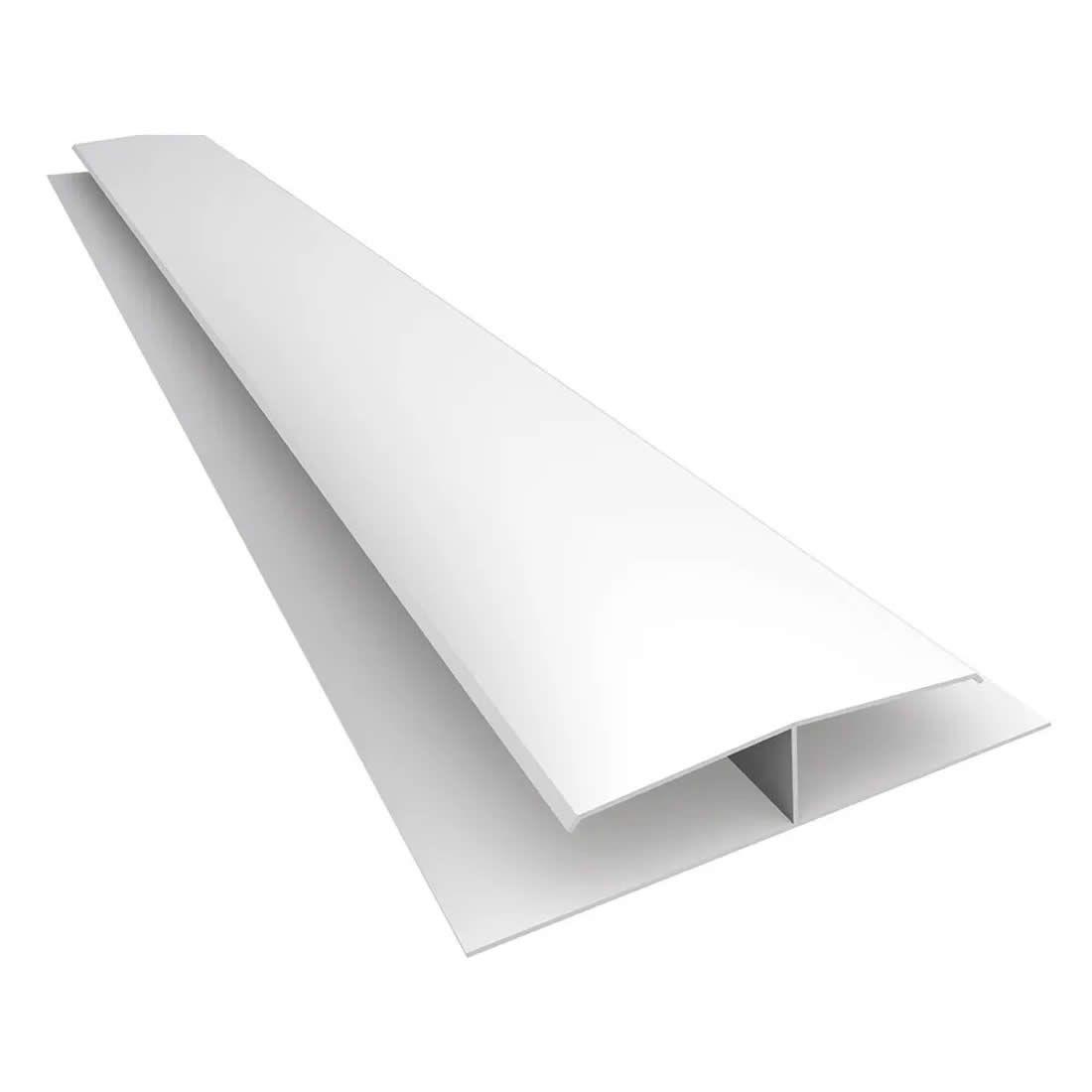 """Emenda para Forro de PVC Tipo """"H"""" Branca Mais PVC Peças com 6,00mts"""