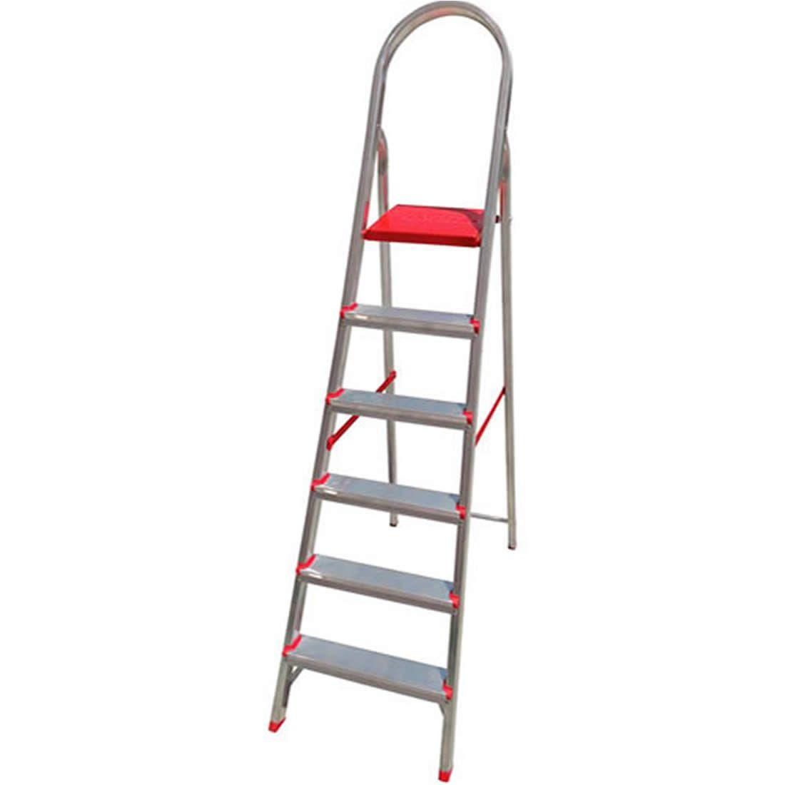 Escada Suprema Alumínio Abrir 6 Degraus
