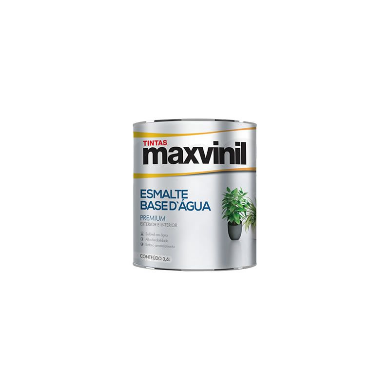 Esmalte Sintético Maxvinil Base Água Brilhante Branco Neve 900 ml