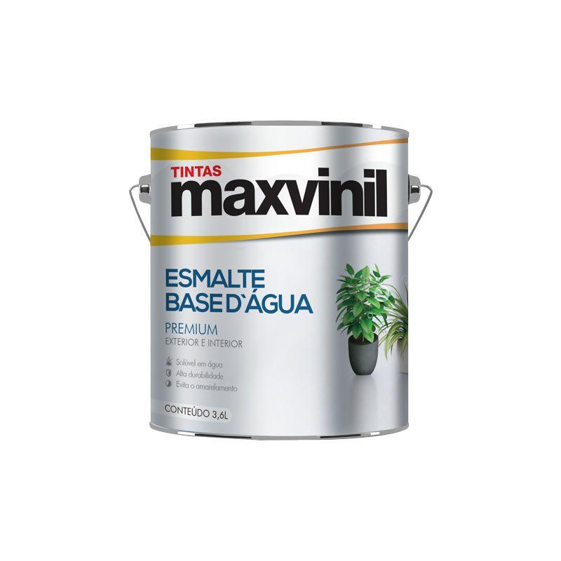 Esmalte Sintético Maxvinil Base Água Brilhante Preto 3,6 Litros