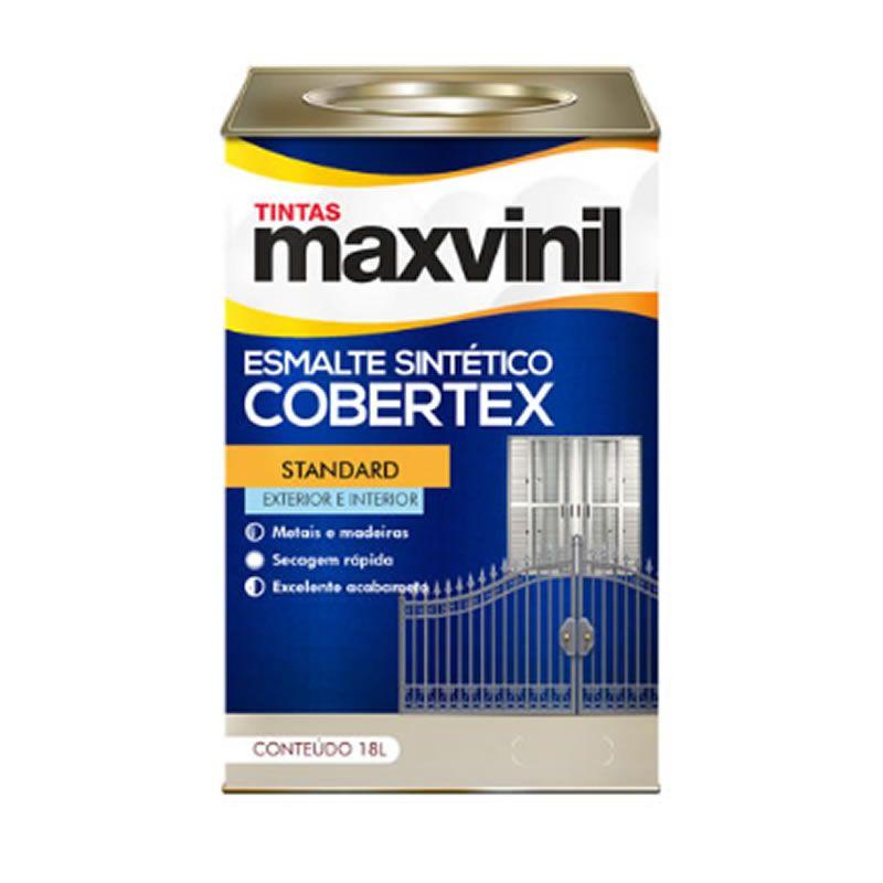 Esmalte Sintético Maxvinil Cobertex Brilhante Vermelho Segurança 18 Litros