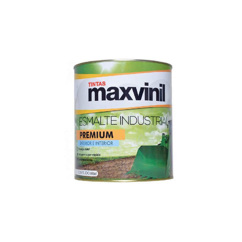 Esmalte Sintético Maxvinil Industrial Extra Rápido Brilhante Cinza Escuro 900 ml
