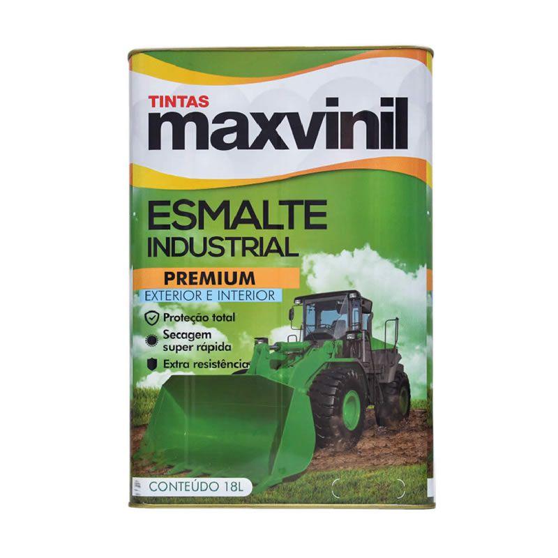Esmalte Sintético Maxvinil Industrial Extra Rápido Brilhante Preto Fosco 18 Litros