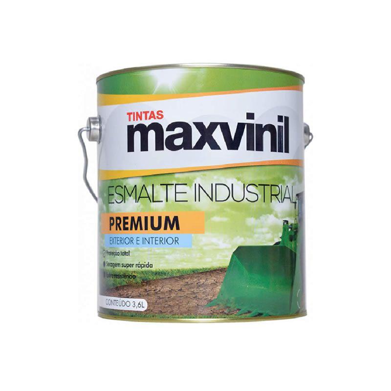 Esmalte Sintético Maxvinil Industrial Extra Rápido Preto Fosco 3,6 Litros