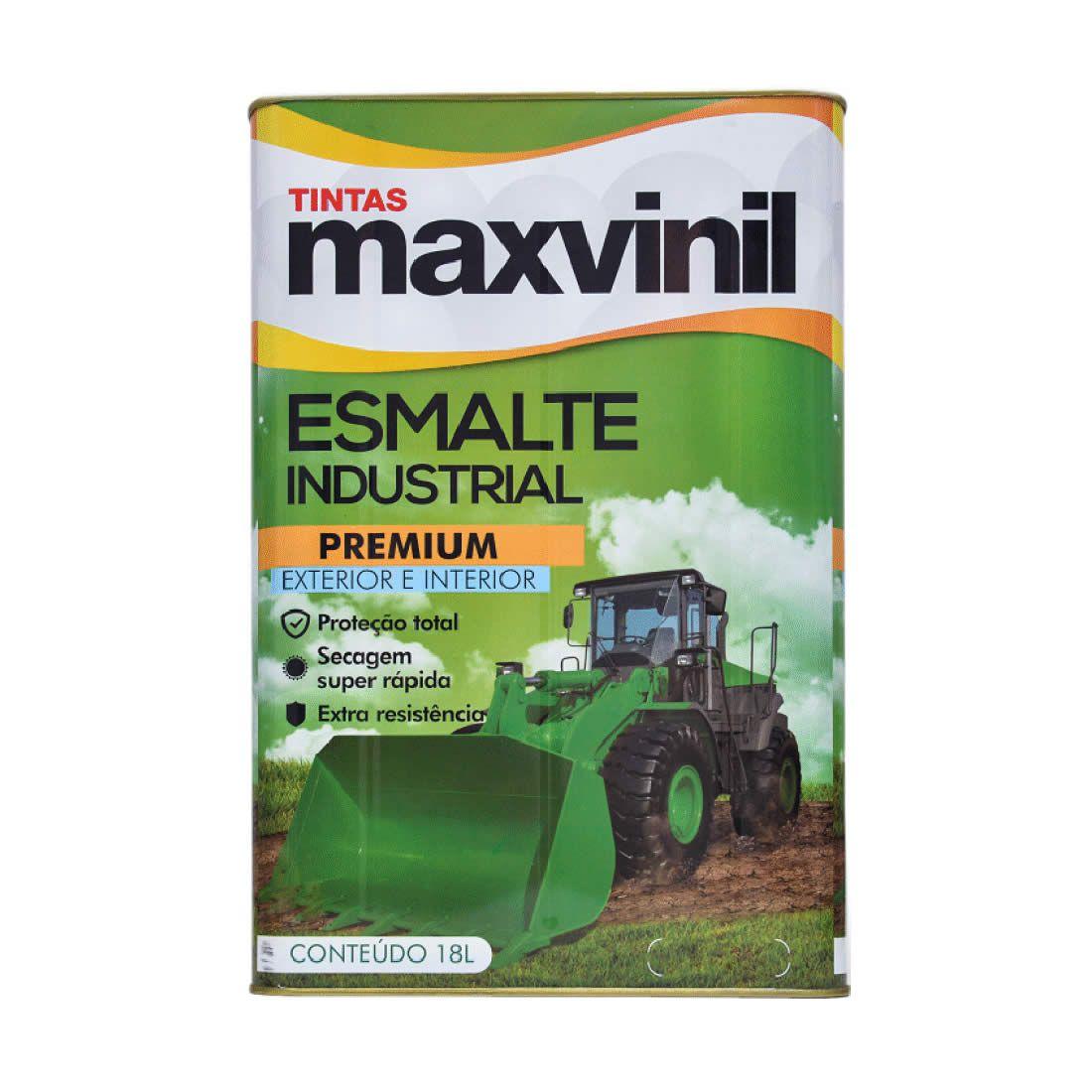 Esmalte Sintético Maxvinil Secagem Rápida Branco Puro 18Lt
