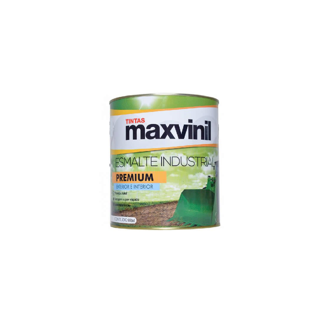 Esmalte Sintético Maxvinil Secagem Rápida Cinza Médio 900ml