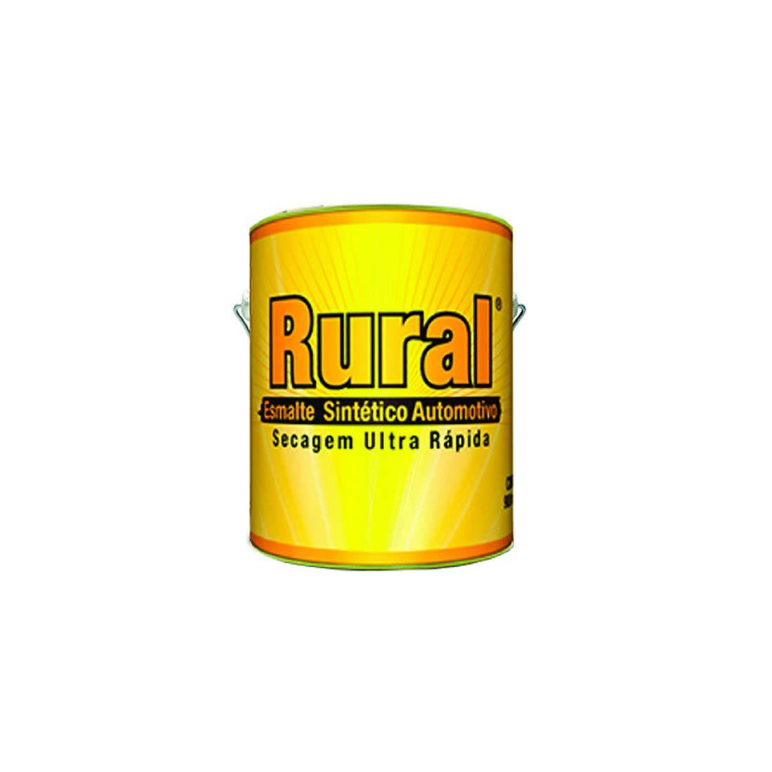 Esmalte Sintético Rural Secagem Ultra Rápido Preto Fosco/Negro Mate 3,6Lt