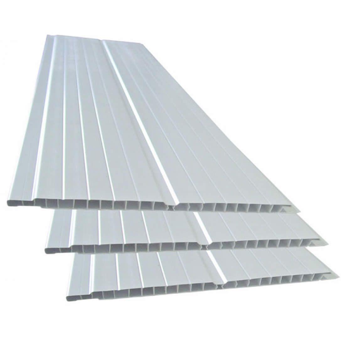 Forro PVC 200X8mm de 8,00 Metros Frisado Branco Mais PVC, 1,60mts = 1 Peças