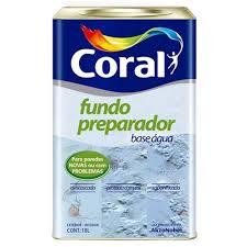 Fundo Preparador Coral Base D'agua Incolor 18 Litros