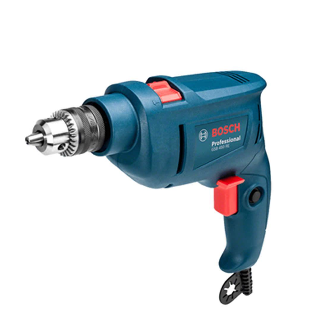 Furadeira Bosch Impacto + Brocas GSB 450 RE 450W 220V