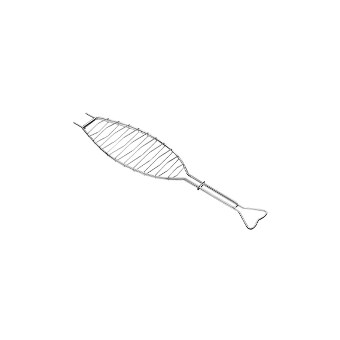 Grelha Plana Aço Inox Para Peixe Tramontina Ref 26483000