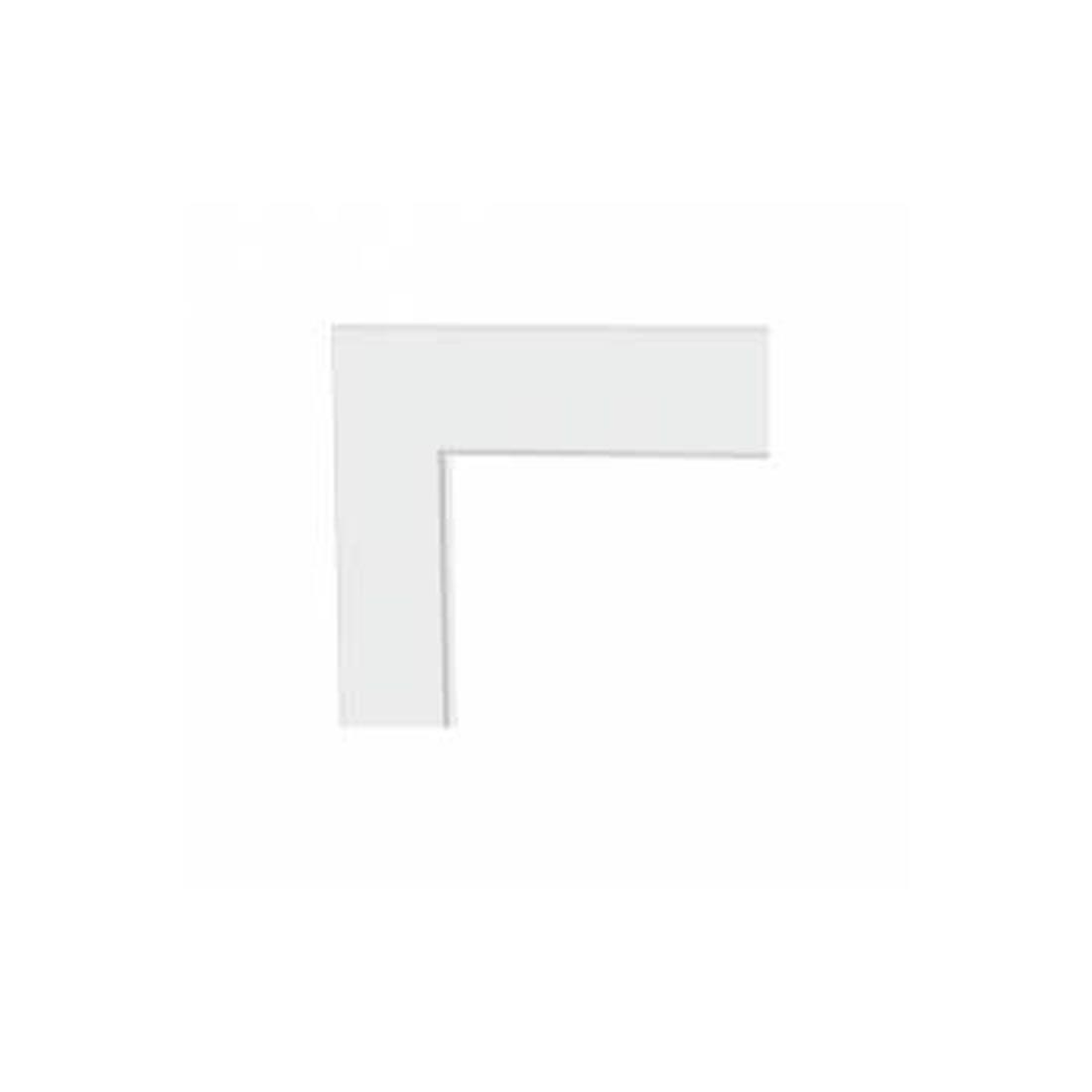 Guarnição Lucasa Branca com Aba 215x105 Ref 9197.0