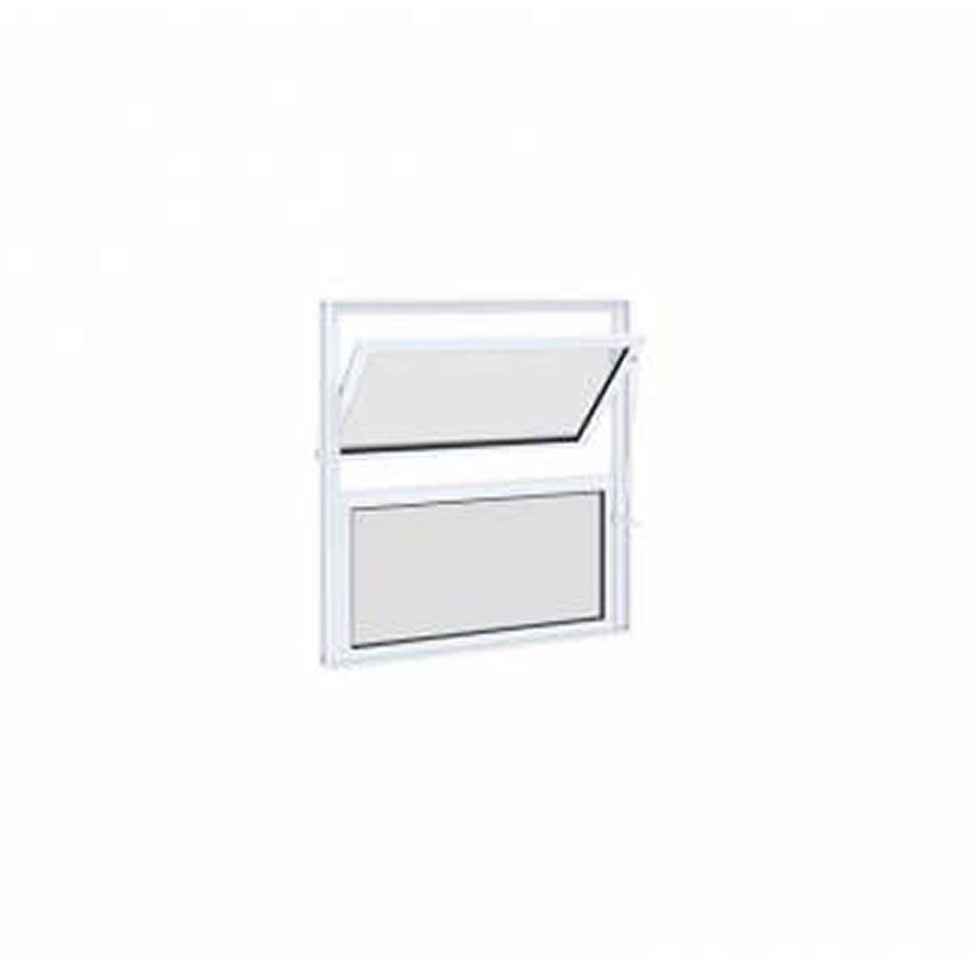 Janela Lucasa Basculante de Alumínio sem Grade 40 X 40 cm Ref 9415.0