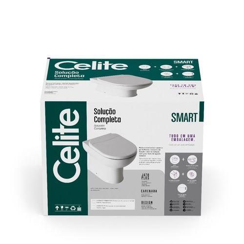 Kit Bacia Convencional + Complementos De Instalação C/ Assento Termofixo Smart Branco - Celite