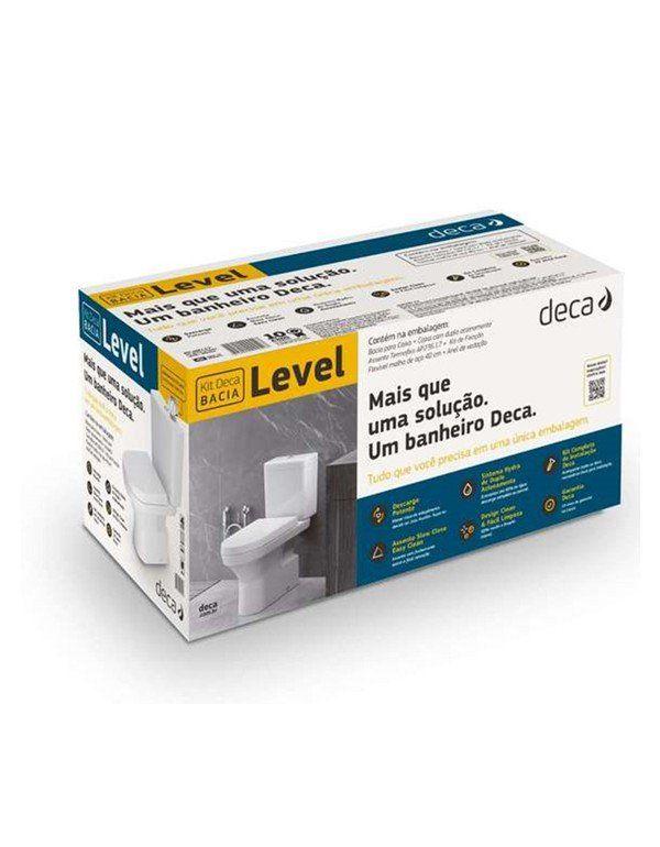 Kit Completo Bacia Com Caixa Acoplada Level + Acessórios Branco Deca KP.480.17